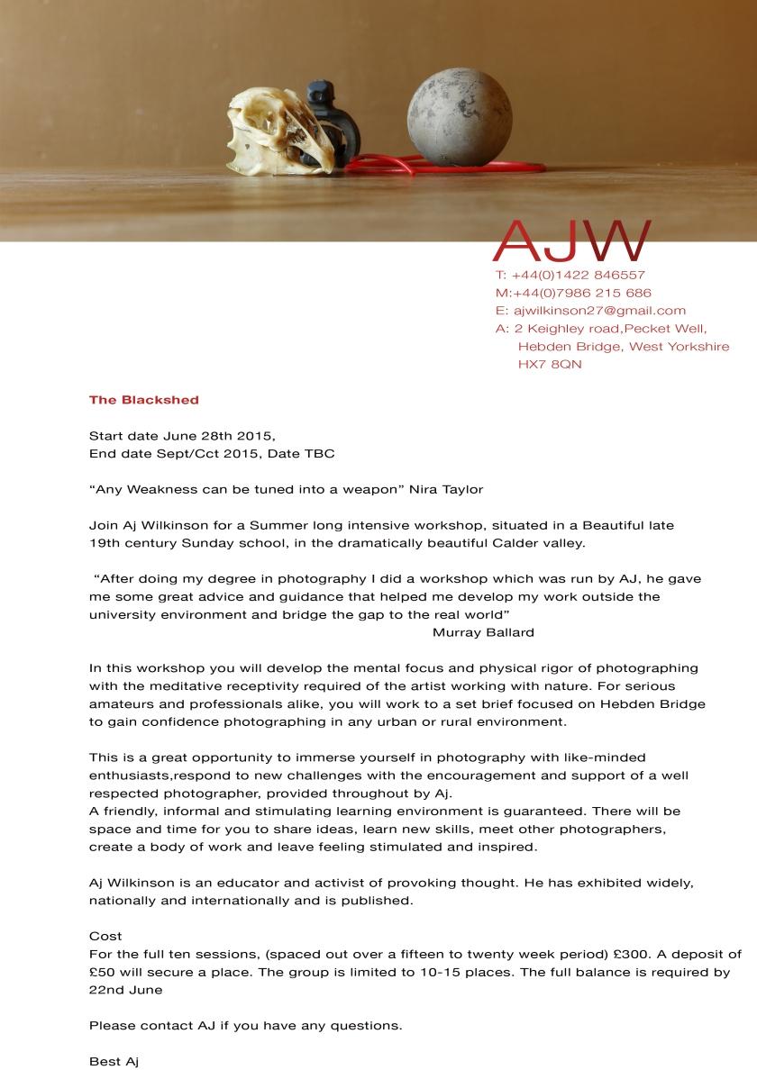 workshop letter